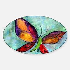 Butterfly Art Sticker (Oval)
