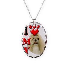I Love My Shih Tzu Necklace