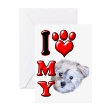 I Love My Schnoodle Greeting Card
