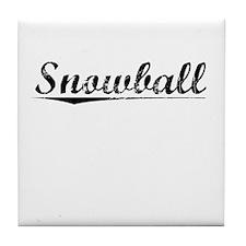 Snowball, Vintage Tile Coaster