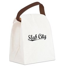 Slab City, Vintage Canvas Lunch Bag
