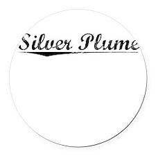 Silver Plume, Vintage Round Car Magnet