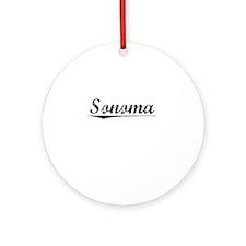 Sonoma, Vintage Round Ornament