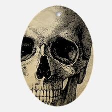 Vintage Skull Oval Ornament