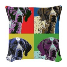 gsp warhol Woven Throw Pillow