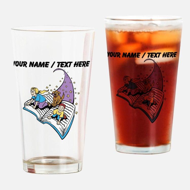 Custom Magical Book Drinking Glass