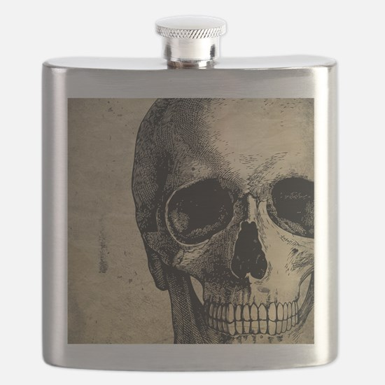 Vintage Skull Flask