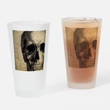 Vintage Skull Drinking Glass