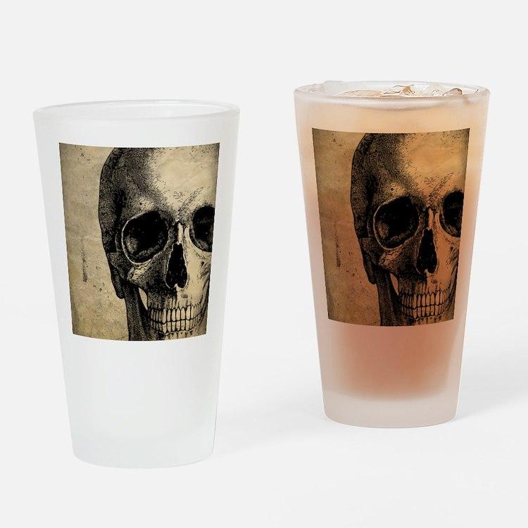 Vintage Skull Drinking Glass