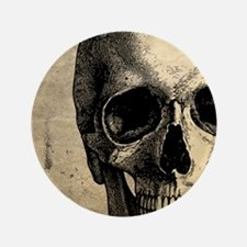 "Vintage Skull 3.5"" Button"