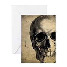 Vintage Skull Greeting Card