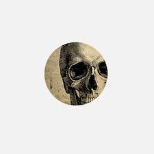 Vintage Skull Mini Button