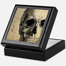Vintage Skull Keepsake Box