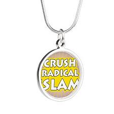 Crush Radical Islam Silver Round Necklace
