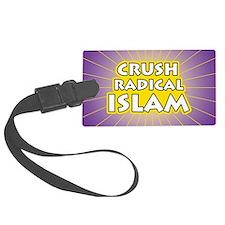 Crush Radical Islam Luggage Tag