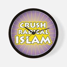 Crush Radical Islam Wall Clock