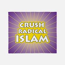 Crush Radical Islam Throw Blanket
