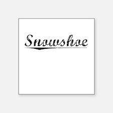 """Snowshoe, Vintage Square Sticker 3"""" x 3"""""""