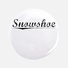 """Snowshoe, Vintage 3.5"""" Button"""