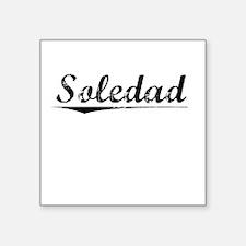 "Soledad, Vintage Square Sticker 3"" x 3"""