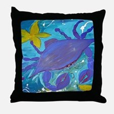 Crab Island Throw Pillow