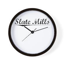 Slate Mills, Vintage Wall Clock