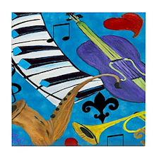 Blues Jazz Tile Coaster
