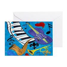 Blues Jazz Greeting Card