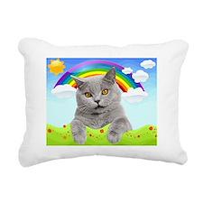 Rainbow Kitty Rectangular Canvas Pillow