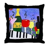 Piano throw pillow Throw Pillows