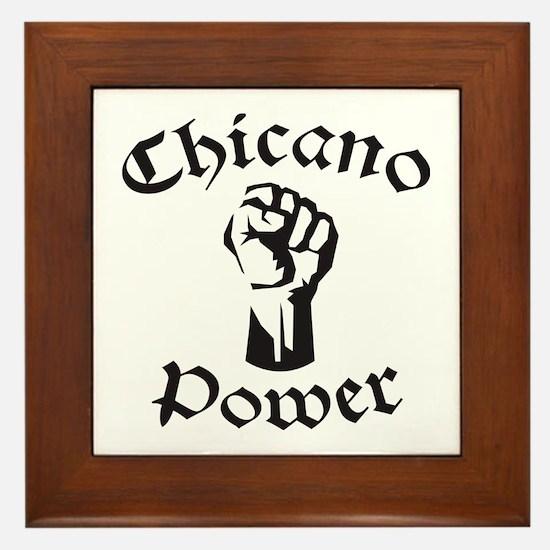 Chicano Power Framed Tile