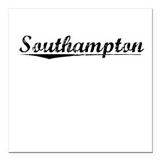 "Southampton, Vintage Square Car Magnet 3"" x 3"""