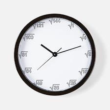Square Root Wallclock Wall Clock
