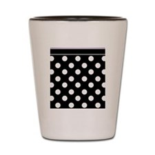 Black Polka Dot Purple Shot Glass