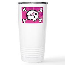 Pink Girl Skull Travel Mug