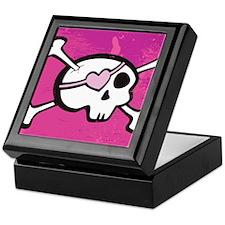 Pink Girl Skull Keepsake Box