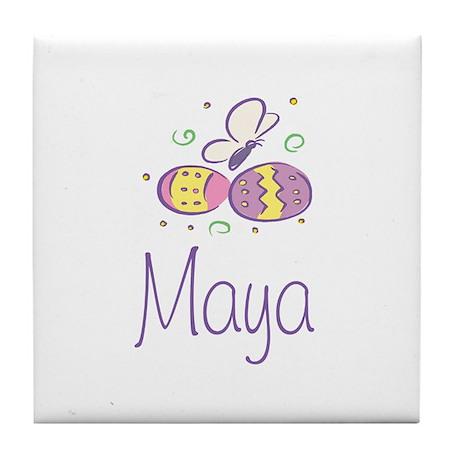 Easter Eggs - Maya Tile Coaster