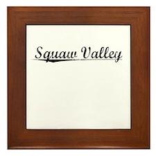 Squaw Valley, Vintage Framed Tile
