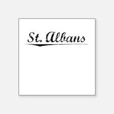 "St. Albans, Vintage Square Sticker 3"" x 3"""