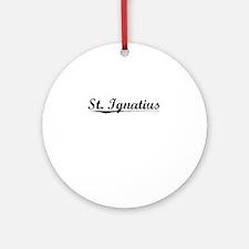 St. Ignatius, Vintage Round Ornament
