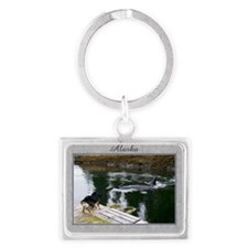Doobie and the whale Landscape Keychain