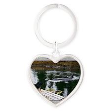 Doobie and the whale Heart Keychain