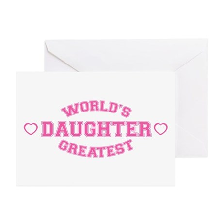 World's Greatest Daughter Greeting Cards (Package