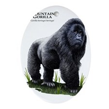 Mountain Gorilla Oval Ornament