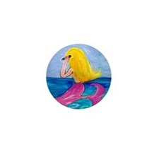 Cellphone Mermaid Mini Button