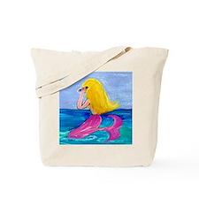 Cellphone Mermaid Tote Bag