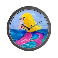 Cellphone Mermaid Wall Clock