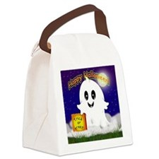 Happy Halloween! Ghost Canvas Lunch Bag