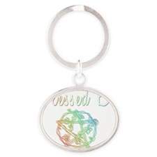 Blessed be Oval Keychain
