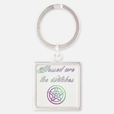Blessed are the Witches Square Keychain